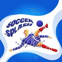 fotbollsplash silhuett vektor