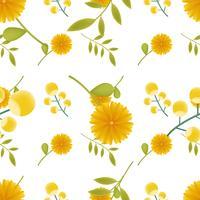 süßes Blumenmuster nahtlos für Sommer, Herbst, Frühling vektor