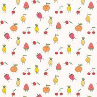 Netter Frucht-Muster-Hintergrund. Vektor-Illustration.