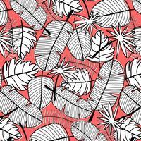 Tropischer Musterhintergrund. Handgezeichnete Vektor-Illustration.