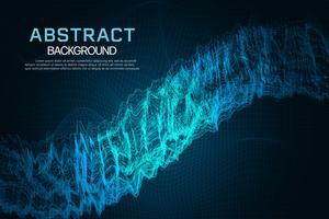 Abstrakter glühender Gitterhintergrund. Technologie- und Internet-Konzepthintergrund. vektor