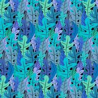 Hand gezeichneter Blumenmuster-Hintergrund. Vektor-Illustration.