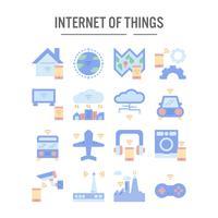 Internet der Sachenikone im flachen Design
