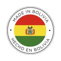 Gjort i Bolivias flaggikon. vektor