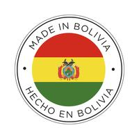 Made in Bolivia Kennzeichnungssymbol. vektor