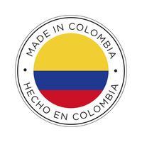 Made in Colombia Kennzeichnungssymbol. vektor