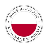 Made in Poland Kennzeichnungssymbol.
