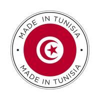 gjord i tunisias flaggikon. vektor