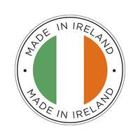 gjord i Irlands flaggikon. vektor