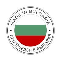 Made in Bulgaria Kennzeichnungssymbol. vektor