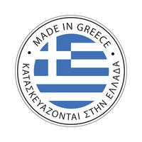 Gjord i Greklands flaggikon. vektor