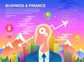 Geschäftswachstum in Flat Art vektor