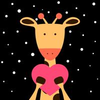 Niedliche, Fanny-Giraffenillustration. vektor