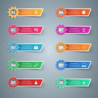 Zahnrad, Zahnradsymbol. Geschäftliche Infografiken.