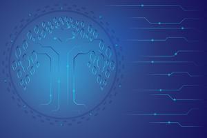 digital kommunikationskoncept för teknikbakgrund
