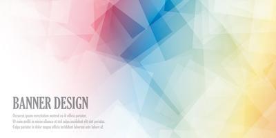 Låg poly banner design