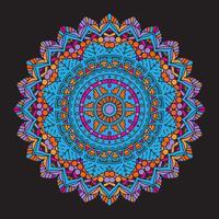 Abstrakter bunter Mandalahintergrund vektor