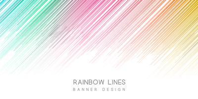 Buntes Banner-Design vektor