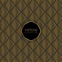 Guld och svart mönster bakgrund vektor