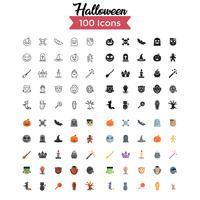 halloween ikonuppsättning vektor