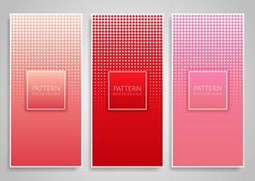 Bannerdesigns mit Raster-Diamantpunktdesigns