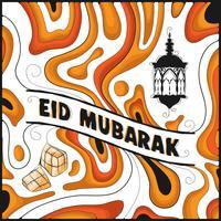 Eid Mubarak abstrakten Hintergrund vektor