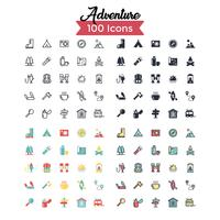 Advecture icon set vector