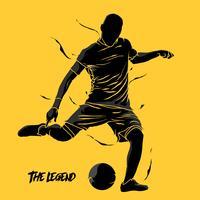 fotboll fotboll stänk silhuett vektor