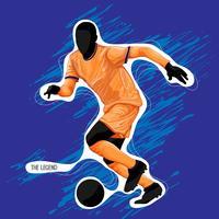 fotbolls-silhuettfärg vektor