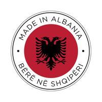 gjord i albaniens flaggikon. vektor