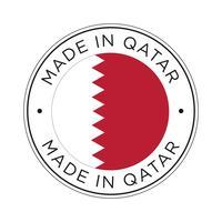 Made in Qatar Flaggensymbol. vektor