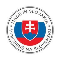 Gjort i Slovakiens flaggikon. vektor