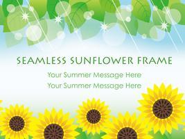 Nahtlose Vektorsonnenblumen-Hintergrundillustration. vektor