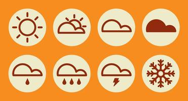 Wettersymbole. Vektor-Illustration vektor