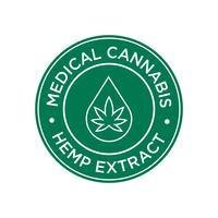 Hanf-Extrakt-Symbol. Medizinisches Cannabis. vektor