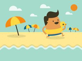 Sommer-Vektor-Illustration