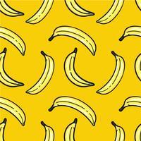 Hand gezeichnetes Bananenmuster vektor