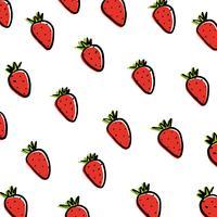 Erdbeeren auf weißem Hintergrund. vektor