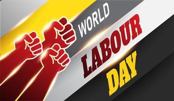 Weltarbeitstag Hintergrund vektor