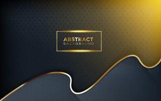 Moderner dunkler Hintergrund mit Glanz, Goldlinie und Funkeln vektor