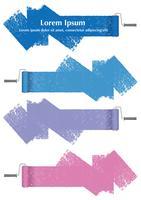 Satz Farbenroller-Zusammenfassungsgestaltungselemente lokalisiert auf einem weißen Hintergrund. vektor