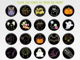 Set med olika Glad Halloween användargränssnitt ikoner.