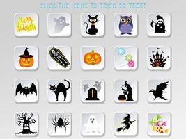 Set med olika Happy Halloween användargränssnittsknappar. vektor