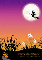 Glad Halloween sömlös bakgrund med textutrymme. vektor