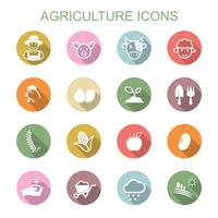 Landwirtschaft lange Schatten Symbole