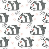 Sömlös panda är lat mönster.