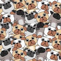 Sömlös många hundar mönster.
