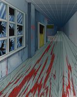 Verlassenes Gebäude im Cartoon-Stil. vektor