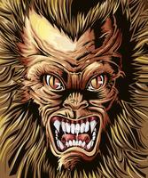Monster bakgrund i tecknad stil.