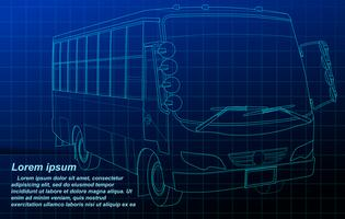 Fahrzeugentwurf auf Planhintergrund. vektor